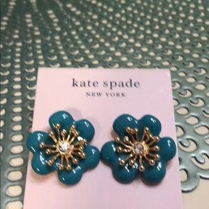 Kate spade New York earrings blue flower